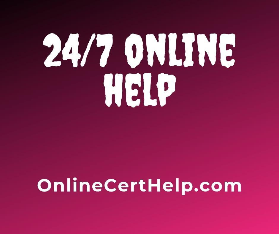 Online Certificate Help